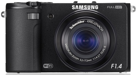 Samsung EX2F WiFi Smart Digital Camera front