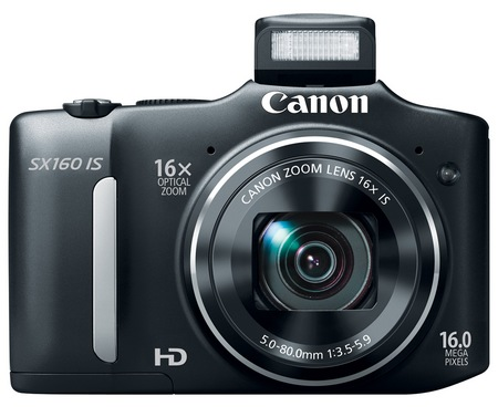 Canon PowerShot SX160 IS 16x long zoom camera black