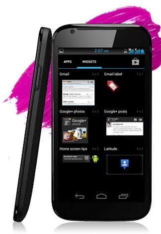 Micromax Superfone Canvas A100 dual-sim android smartphone side