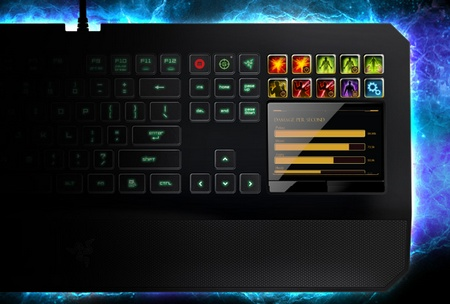 Razer DeathStalker Ultimate Gaming Keyboard with with Touchscreen Switchblade UI 2