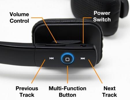Satechi BT Lite Bluetooth Headphones buttons