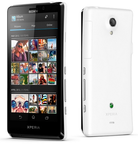 Sony Xperia T Flagship Smartphone with 4.6-inch Display and 13Mpix camera white