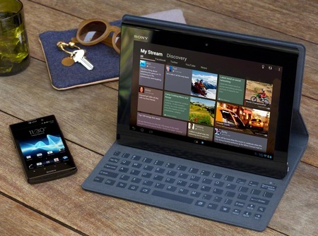 Sony Xperia Tablet S with Tegra 3 keyboard cover