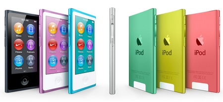 Apple iPod nano 7th gen with 2.5-inch Multitouch Display colors 2