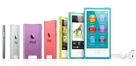 Apple iPod nano 7th gen with 2.5-inch Multitouch Display colors 3