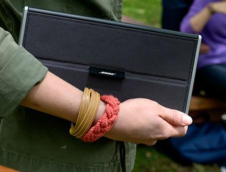 Bose SoundLink Bluetooth Mobile Speaker II on hand