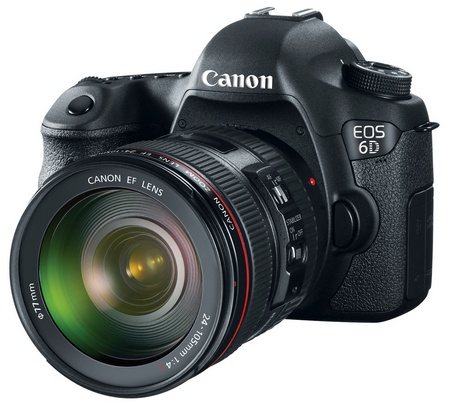 Canon EOS 6D Mid-range Full-frame DSLR Camera with WiFi and GPS EF 24-105mm angle