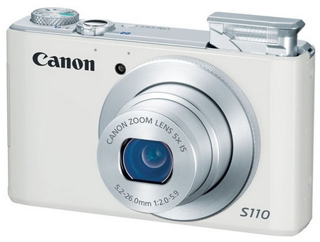 Canon PowerShot S110 Digital Camera with WiFi and Touchscreen white