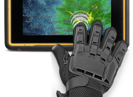 Getac Z710 7-inch Rugged Android Tablet glove on touchscreen