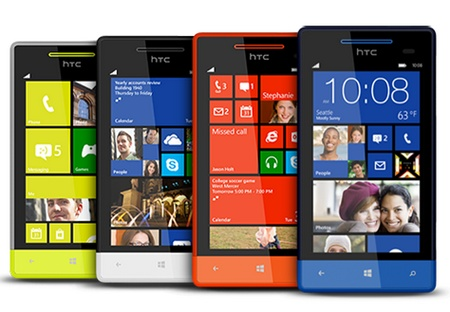 HTC 8S Mid-range Windows Phone 8 Smartphone colors