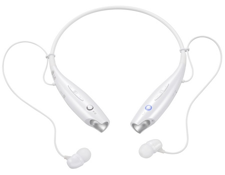 LG TONE+ HBS-730 Bluetooth Headset supports VoLTE white 1