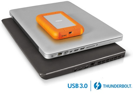 LaCie Rugged USB 3.0 Thunderbolt Series Portable Hard Drive 1