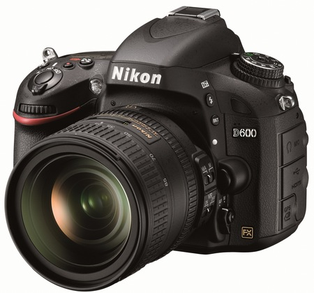 Nikon D600 Full-Frame DSLR Camera angle