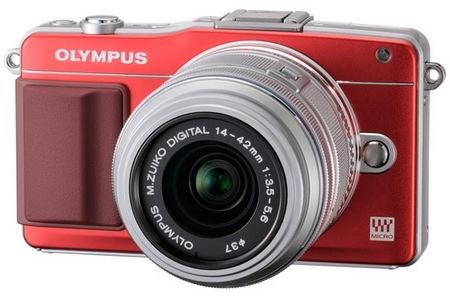 Olympus PEN mini E-PM2 Micro Four Thirds Camera red