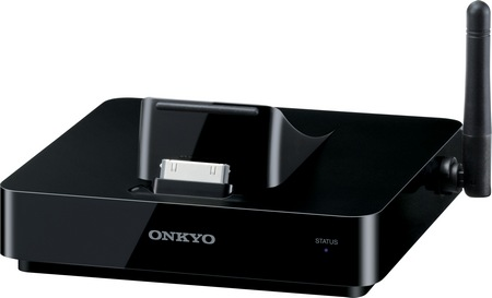 Onkyo DS-A5 AirPlay iPhone iPad Dock angle