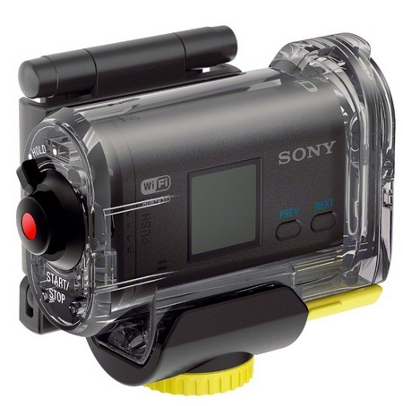 Sony Action Cam HDR-AS10 and HDR-AS15 HD Sports Cameras inside case