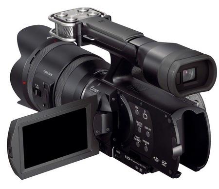 Sony Handycam NEX-VG30H Interchangeable Lens Camcorder SELP-18200 E PZ Lens back