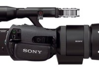 Sony Handycam NEX-VG30H Interchangeable Lens Camcorder SELP-18200 E PZ Lens side