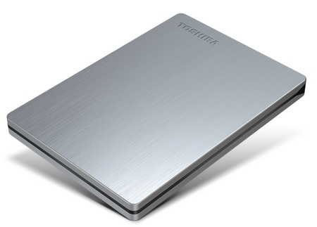 Toshiba Canvio Slim USB 3.0 Portable Hard Drive silver