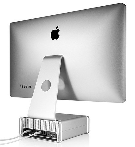 Twelve South HiRise Adjustable Stand for iMac and Apple Display back with mac mini