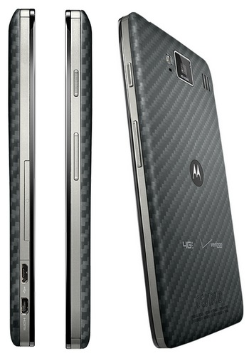 Verizon Motorola DROID RAZR MAXX HD with bigger battery side back
