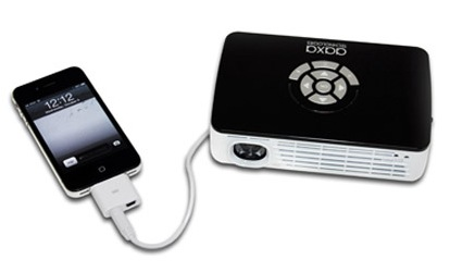 AAXA P300 Pico Projector with iphone