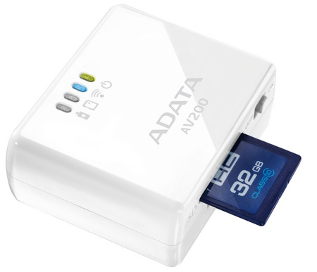 ADATA DashDrive Air AV200 Portable WiFi Router SD card