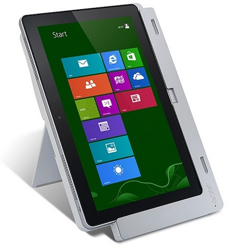 Acer Iconia W700 Windows 8 Tablet PCs on cradle
