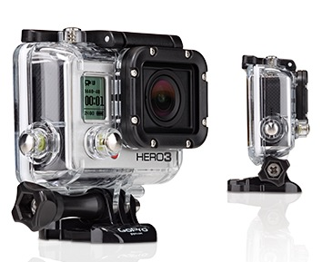 GoPro HERO3 White, Silver and Black Editions Action Cameras with waterproof housing