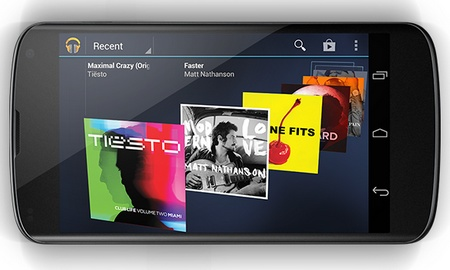 Google LG Nexus 4 SnapDragon S4 Pro, 4.7-inch 320ppi IPS+ and Android 4.2 landscape