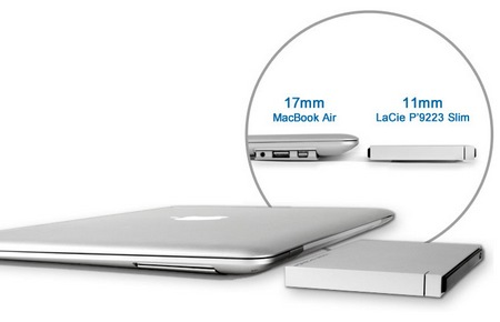 LaCie Porsche Design P'9223 Slim USB 3.0 Mobile Drive slim macbook air
