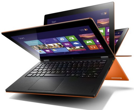 Lenovo IdeaPad Yoga 11 Convertible Hybrid Notebook Tablet Windows 8 flipping