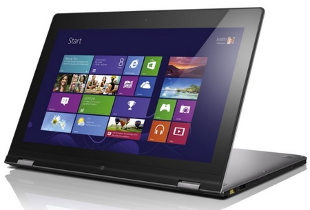 Lenovo IdeaPad Yoga 13 Convertible Hybrid Notebook Tablet Windows 8 stand