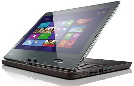 Lenovo ThinkPad Twist Windows 8 Convertible Ultrabook for Business stand 1