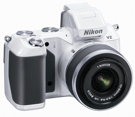 Nikon 1 V2 Interchangeable Lens Mirrorless Camera white