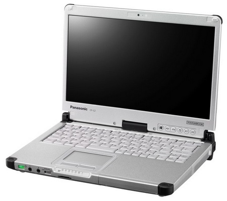 Panasonic Toughbook CF-C2 Windows 8 Semi-rugged Convertible Tablet PC angle