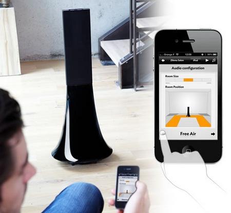 Parrot Zikmu Solo Wireless Speaker Tower app