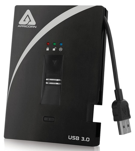Apricorn Aegis Bio 3.0 USB 3.0 Biometric Hard Drive with 256-bit AES-XTS Hardware Encryption 2
