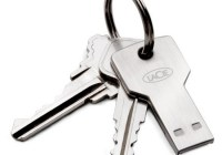 LaCie PetiteKey Key-shaped USB Flash Drive keychain