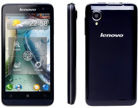 Lenovo IdeaPhone P770 Smartphone Packs 3500mAh Battery front back side