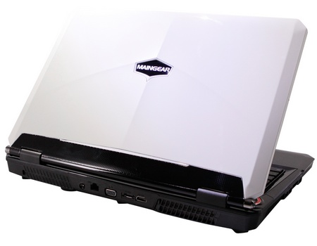 Maingear NOMAD 15 Gaming Notebook powered by Core i7 and GeForce GTX GPU white