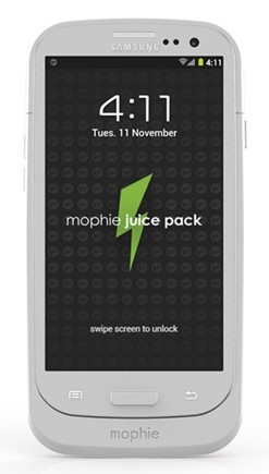Mophie juice pack Battery Case for Samsung Galaxy S III front