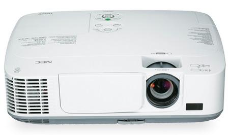 NEC M271X, M311X and M311W Portable Projectors front