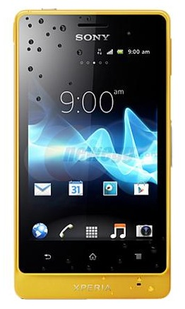 Sony Xperia advance Rugged Smartphone yellow