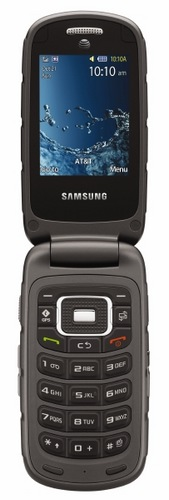 AT&T Samsung Rugby III Rugged Clamshell with Enhanced Push to Talk open