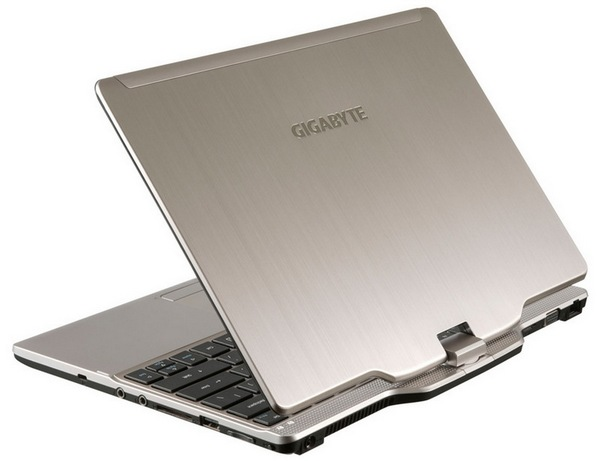Gigabyte U2141 Windows 8 Convertible Notebook lid
