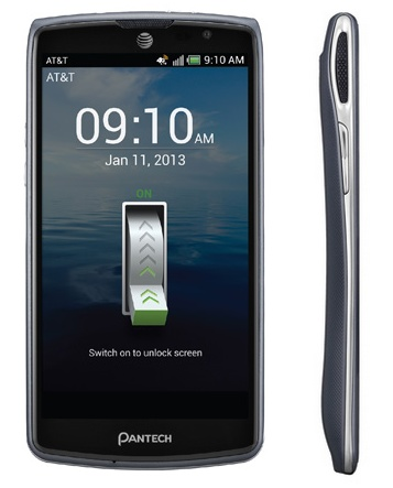 AT&T Pantech Discover Affordable Smartphone with 720p Display and Full HD Video side