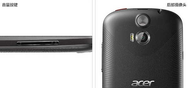 Acer Liquid E1 4.5-inch Mid-range Dual-SIM Smartphone buttons