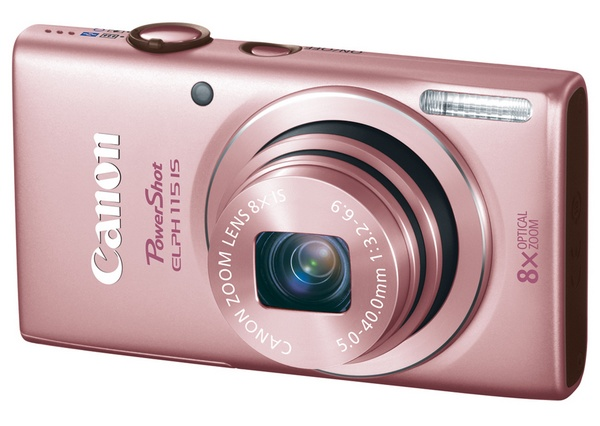Canon PowerShot ELPH 115 IS Camera pink