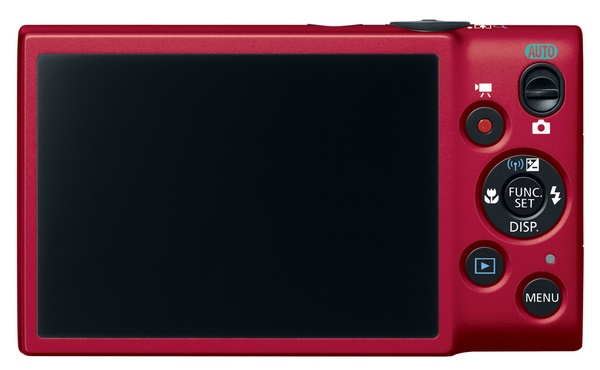 Canon PowerShot ELPH 130 IS Point-and Shoot packs 8x Zoom, WiFi and 3-inch Display red back